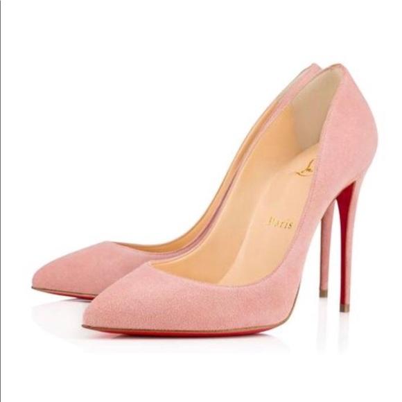 Cl Pink Suede Pumps   Poshmark